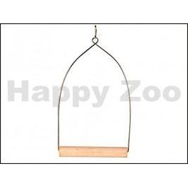Hračka pro ptáky TRIXIE - houpačka dřevěná závěsná 8x15cm