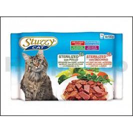 Multipack kapsička STUZZY Cat Sterilised - s kuřecím a krůtím (4