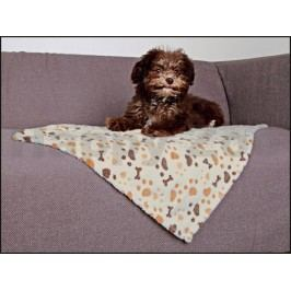 Fleecová deka TRIXIE Lingo 75x50cm - bílobéžová