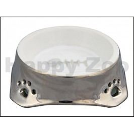 Keramická miska TRIXIE pro kočky stříbrnobílá 150ml  (12cm)