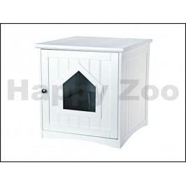 Skříňka na kočičí toaletu TRIXIE bílá 49x51x51cm