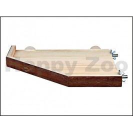 Dřevěná rohová přidělávací plošina TRIXIE (S) 17x17cm
