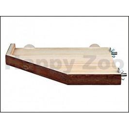 Dřevěná rohová přidělávací plošina TRIXIE (M) 28x28cm