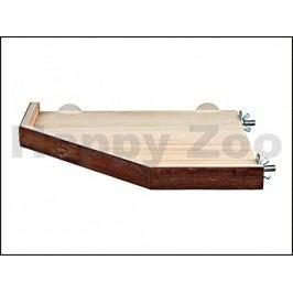 Dřevěná rohová přidělávací plošina TRIXIE (L) 33x33cm