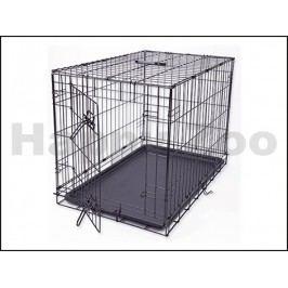 Klec pro psy DOG FANTASY skládací černá (M) 76x53x48cm