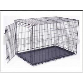 Klec pro psy DOG FANTASY skládací černá (XXL) 122x84x76cm