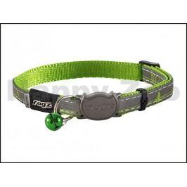 Obojek ROGZ Catz NightCat CB 08 L-Lime Swallows (S) 1,1x20-31cm