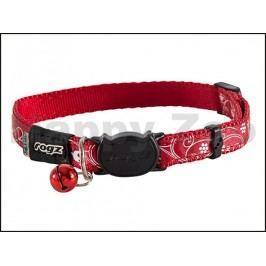 Obojek ROGZ Catz SilkyCat CB 42 C-Red Filigree (S) 1,1x20-31cm