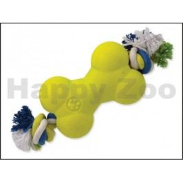 Hračka DOG FANTASY guma - Strong Foam kost s provazem 13,9cm