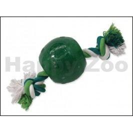 Hračka DOG FANTASY guma - Strong Mint míč s provazem 9,5cm