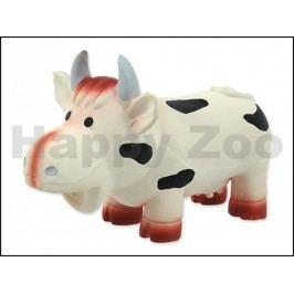 Hračka DOG FANTASY latex - kráva se zvukem 18cm