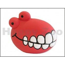 Hračka DOG FANTASY latex - míč se zuby červený se zvukem 8cm