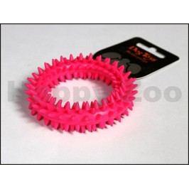 Hračka SALAČ guma - TPR kroužek růžový 9cm