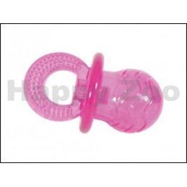 Hračka ZOLUX guma TPR - dudlík růžový 7cm
