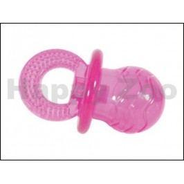 Hračka ZOLUX guma TPR - dudlík růžový 10cm