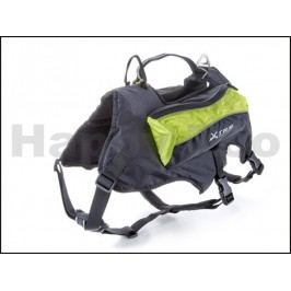 Postroj s batohem na psa JK X-TRM zelený 60-79/78-104cm