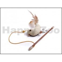 Hračka pro kočky JK - mini škádlítko s ptáčkem 18cm