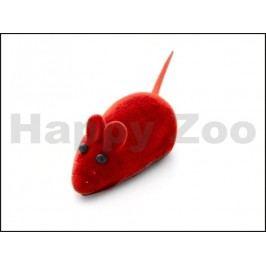 Hračka pro kočky JK - semišová pískací myška 6cm (12ks)