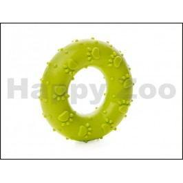 Hračka JK guma TPR - kroužek s kostmi zelený 7cm