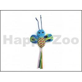 Hračka pro kočky JK - motýl šustící modrý 28cm