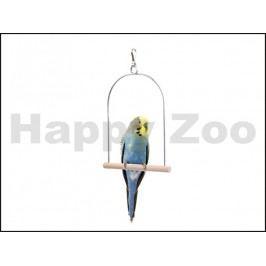 Hračka JK pro ptáky - dřevěná houpačka (S) 12x15cm