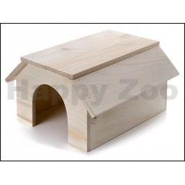 Dřevěný domek JK pro králíky 31x22x16cm
