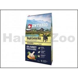 ONTARIO Adult Mini Weight Control Turkey 6,5kg
