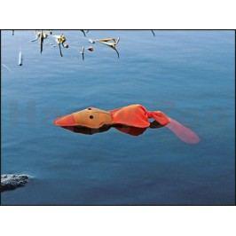 Hračka TRIXIE polyester - plovoucí oranžová kačena se zvukem 50c
