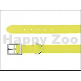 Obojek TRIXIE Easy Life PVC voděodolný neonový žlutý (M) 2x35-43