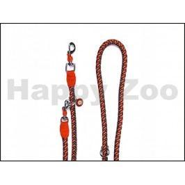 Vodítko JK Comfort přepínací oranžové 1,5x200cm