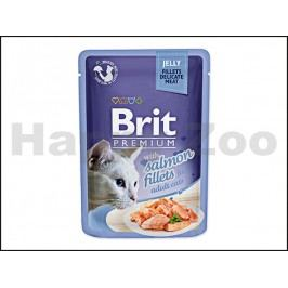 Kapsička BRIT Premium Jelly Salmon Fillets 85g