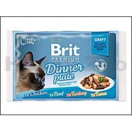 Multipack kapsička BRIT Premium Gravy Dinner Plate (4x85g)
