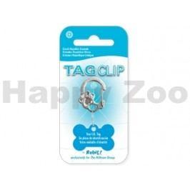 QUICK TAG Tag Clip - kroužek s karabinou (tvar tlapka s kamínky)