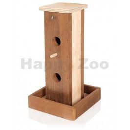 Krmítko TOMMI venkovní dřevěné typ D 16x16x30cm