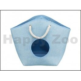 Pelech TRIXIE Emma plyšový modrý 52x39x25cm