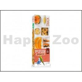 Tyčinky PUUR Pauze Snack - papája a pomeranč pro andulky 60g (2k