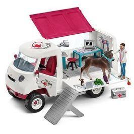 Schleich 42370 Mobilní veterinářská klinika s klisnou a ošetřovatelem
