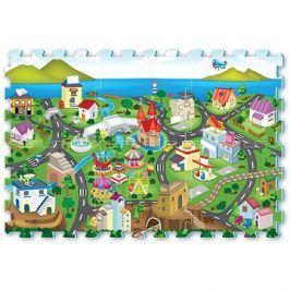 Puzzle pěnové - město