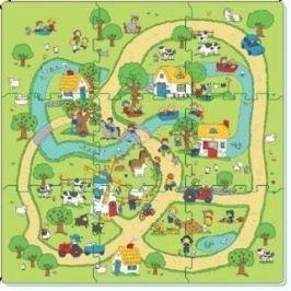 Puzzle - koberec farma 9 ks