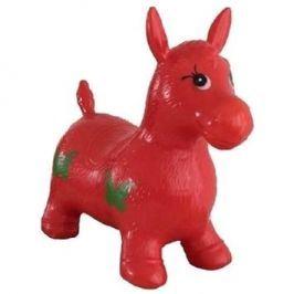 Teddies Hopsadlo skákací kůň - červený
