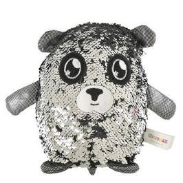 Flitrový medvídek - stříbrný