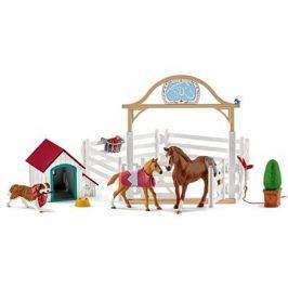 Schleich 42458 Hostující koně, Hannah s fenkou Ruby