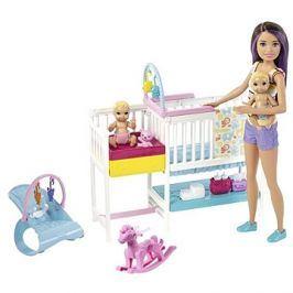 Barbie Herní set dětský pokojík