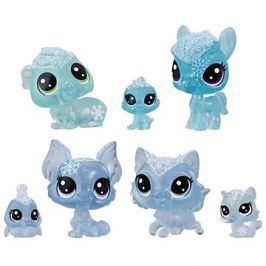 Littlest Pet Shop Zvířátka z ledového království 7ks - modrá