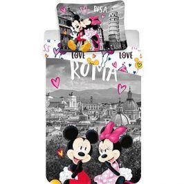 Jerry Fabrics ložní povlečení - Mickey&Minnie in Rome