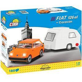 Cobi Polský Fiat 126 el s karavanem