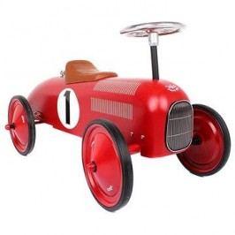 Kovové odrážedlo - Historické závodní auto červené