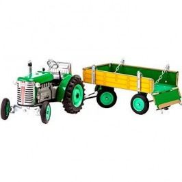 Kovap Traktor s valníkem na klíček zelený