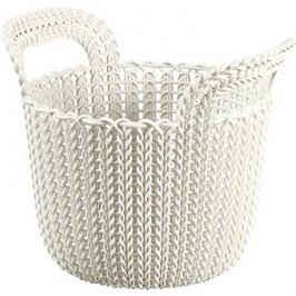 Curver Knit košík kulatý 3L krémový