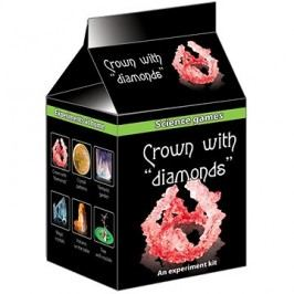 Mini chemická sada krystaly - koruna s diamanty